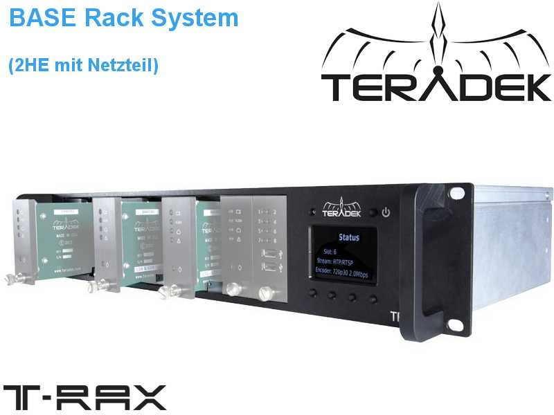 Teradek T-RAX Base System für IP basiertes digital Video Streaming {ohne Karten}